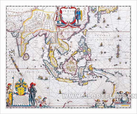 印度,地图,展示,东南亚