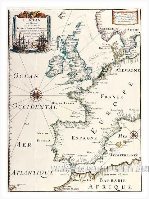古欧洲地图(竖版)-荣耀舰队