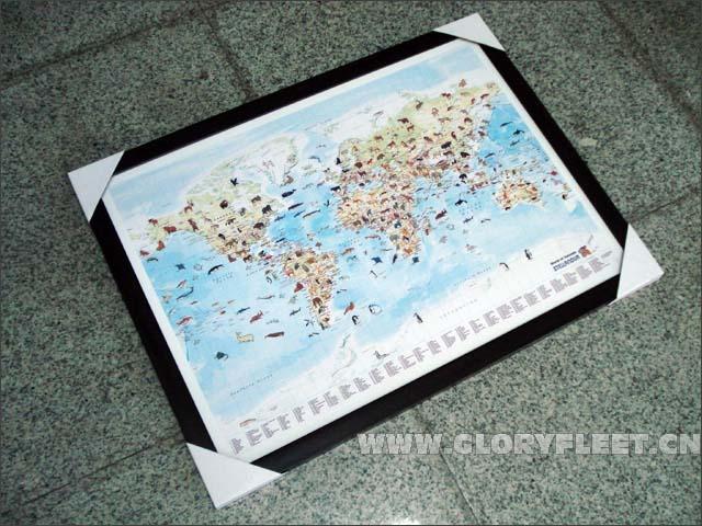 英文版世界地图高清版;